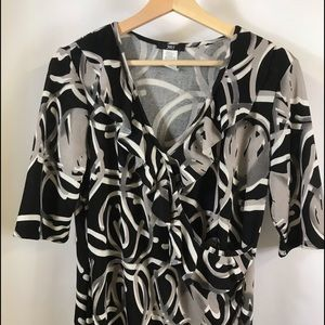 Wrap front dress size 12 nwot ruffle front detail